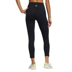 adidas Womens Elevate Yoga Flow 7/8 Tights, Black, rebel_hi-res