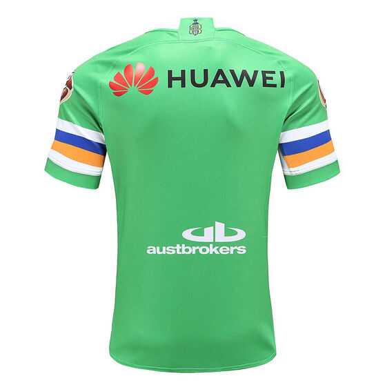 Canberra Raiders 2020 Mens Home Jersey, Green, rebel_hi-res