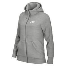 Nike Womens Sportswear Essential French Terry Hoodie Grey XS, Grey, rebel_hi-res