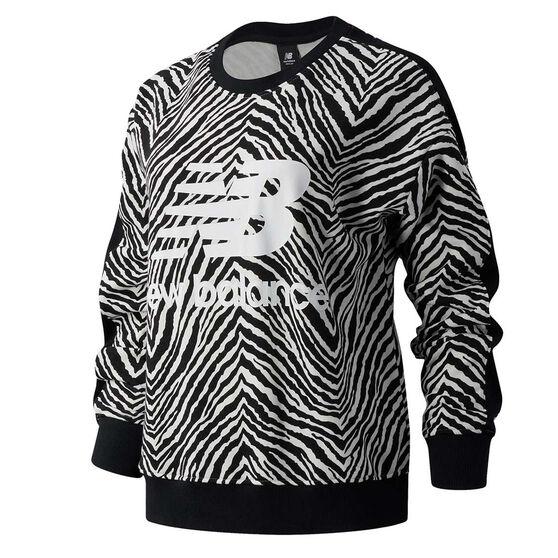New Balance Womens Athletics Animal Print Crew Sweatshirt, , rebel_hi-res