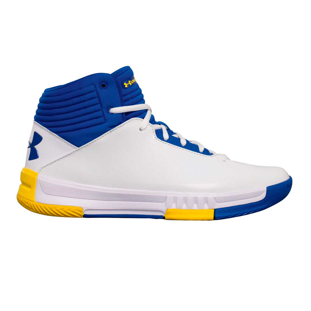 2c57b902999c Under Armour Lockdown 2 Mens Basketball Shoes White   Blue US 7 ...