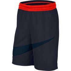 Nike Mens Dri-FIT HBR 2 Shorts Navy / Orange XS, Navy / Orange, rebel_hi-res