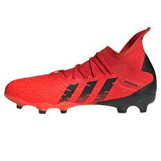 adidas Predator Freak .3 Football Boots Red/Black US Mens 4 / Womens 5, Red/Black, rebel_hi-res