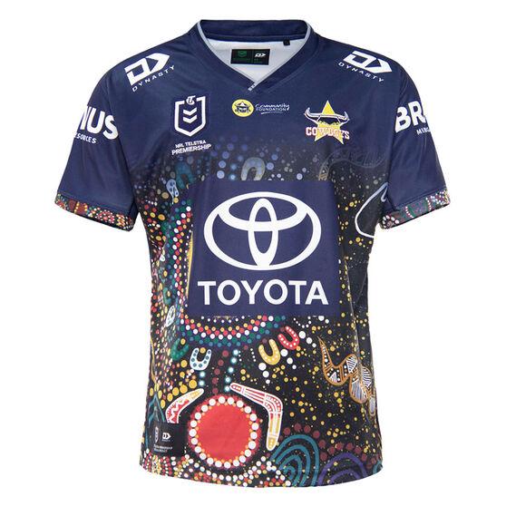 North Queensland Cowboys 2021 Mens Indigenous Jersey, Navy, rebel_hi-res