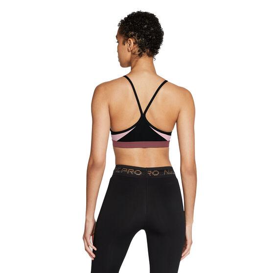 Nike Womens Dri-FIT Indy Padded Sports Bra, Black, rebel_hi-res