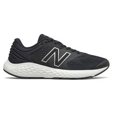New Balance 520 v7 Mens Running Shoes Black/White US 7, Black/White, rebel_hi-res