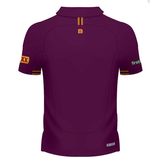 Brisbane Broncos 2020 Womens Performance Polo, Maroon, rebel_hi-res