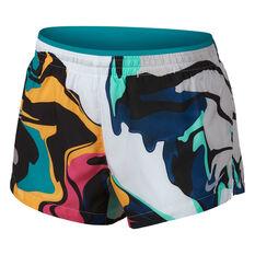 660451d75c86 Nike Womens Printed Running Shorts White XS