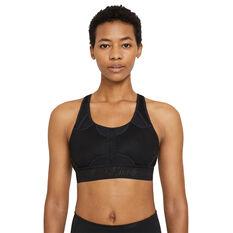 Nike Womens Swoosh UltraBreathe Medium Support Sports Bra Black XS, Black, rebel_hi-res