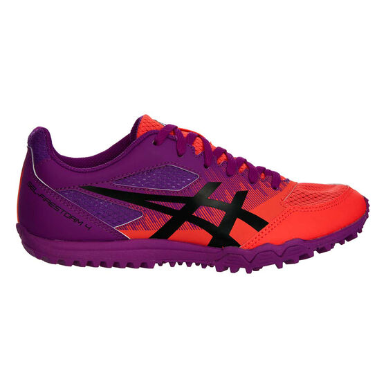 Asics GEL Firestorm 4 Kids Track Shoes, Purple / Orange, rebel_hi-res