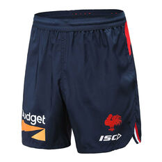 Sydney Roosters 2020 Mens Training Shorts Navy S, Navy, rebel_hi-res