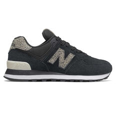 New Balance 574 Womens Casual Shoes Black US 6, Black, rebel_hi-res