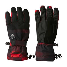 Elude Mens Maximise Ski Gloves Black / Red S, Black / Red, rebel_hi-res