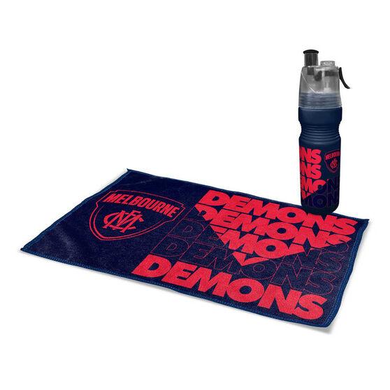 Melbourne Demons 2019 Water Bottle and Gym Towel Pack, , rebel_hi-res