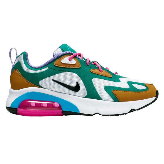 Nike Air Max 200 Womens Casual Shoes Green / White US 7, Green / White, rebel_hi-res
