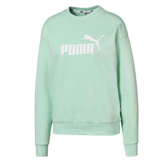 Puma Womens Essentials Fleece Sweatshirt Green XS, Green, rebel_hi-res