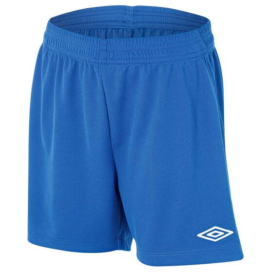 Umbro League Junior Football Shorts, Royal, rebel_hi-res