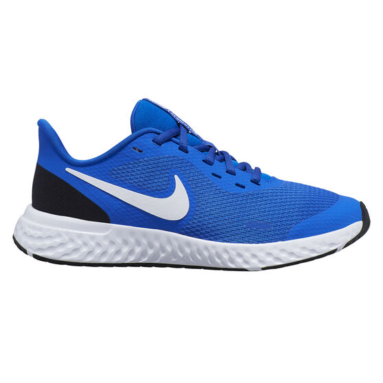 Nike Revolution 5 Kids Running Shoes, Blue / White, rebel_hi-res