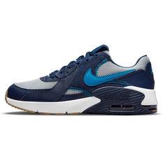 Nike Air Max Excee Kids Casual Shoes Grey/Blue US 4, Grey/Blue, rebel_hi-res