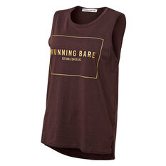 Running Bare Womens Easy Rider Muscle Tank Brown 8, Brown, rebel_hi-res