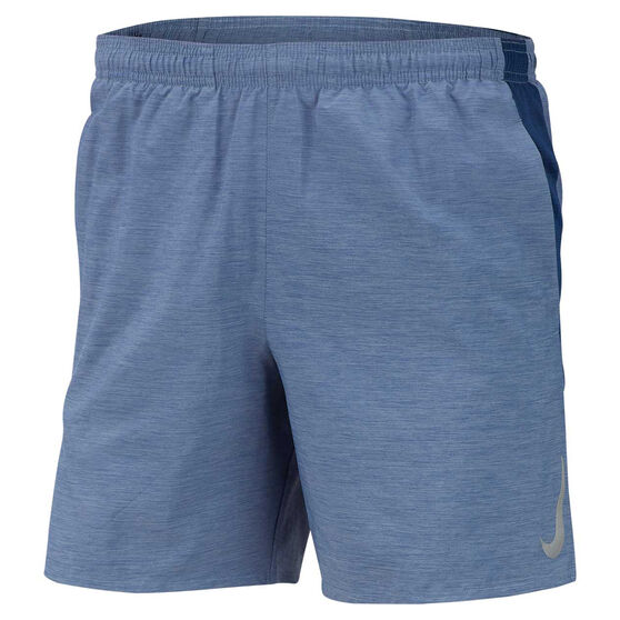 Nike Mens Challenger 7in Brief-Lined Running Shorts Blue S, Blue, rebel_hi-res