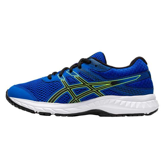Asics GEL Contend 6 Kids Running Shoes, Blue / Green, rebel_hi-res
