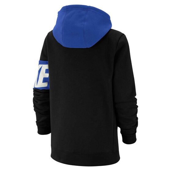 Nike Boys Sportswear Full Zip Hoodie, Black, rebel_hi-res
