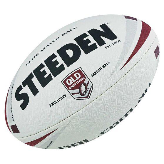 Steeden QRL Elite Junior Match Ball, White, rebel_hi-res