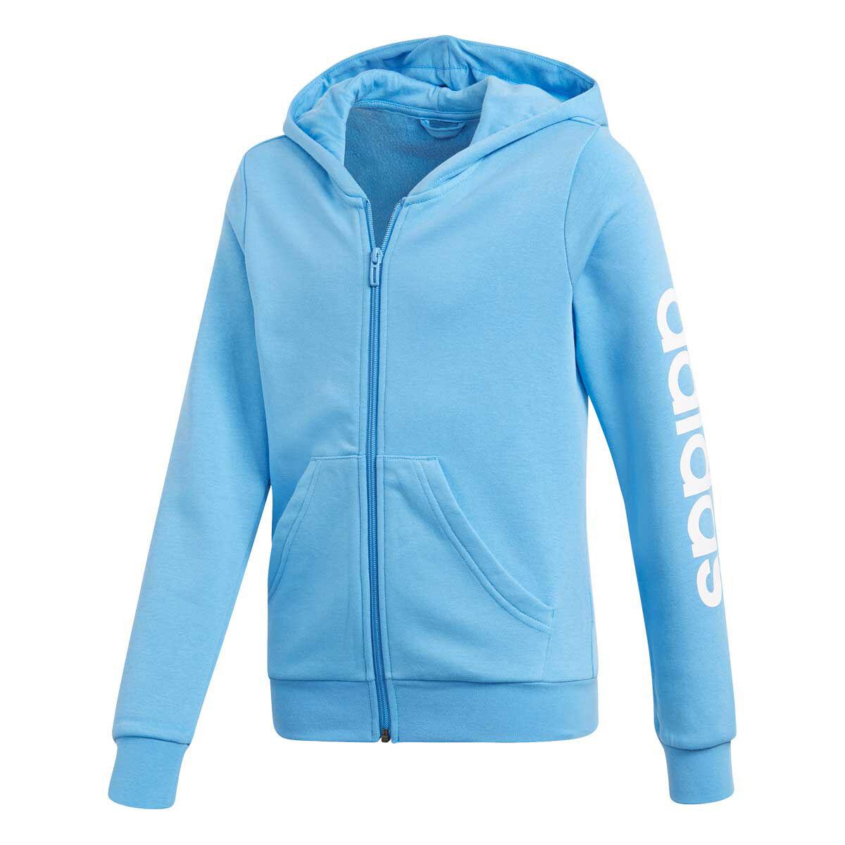 Adidas Essential Linear Full Zip Hoody Girls