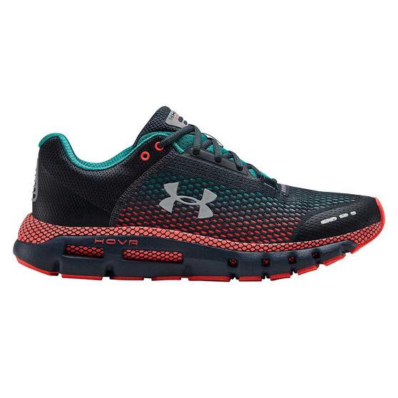 Under Armour HOVR Infinite Mens Running Shoes, Grey / Blue, rebel_hi-res