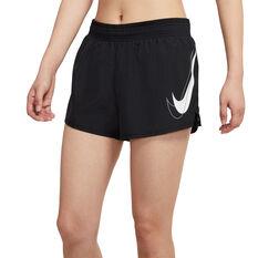 Nike Womens Dri-FIT Swoosh Run Shorts Black XS, Black, rebel_hi-res
