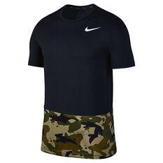 Nike Breath Mens Training Tee Black S, Black, rebel_hi-res