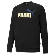 Puma Mens Big Logo Sweatshirt Black XS, Black, rebel_hi-res