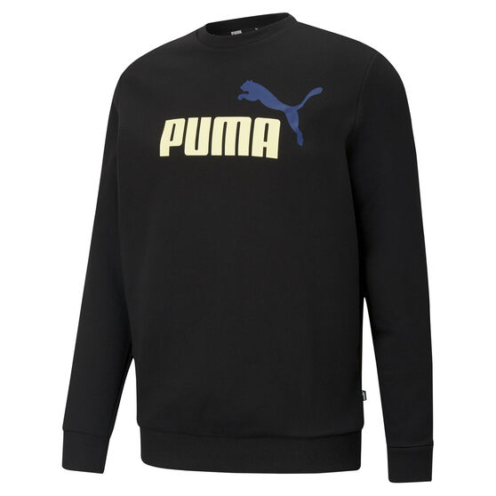 Puma Mens Big Logo Sweatshirt, Black, rebel_hi-res