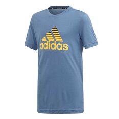 adidas Boys Prime Tee Blue / Black 6, Blue / Black, rebel_hi-res