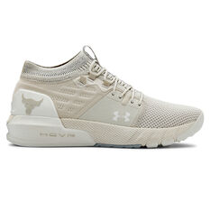 Under Armour Project Rock 2 Womens Training Shoes White US 6, White, rebel_hi-res