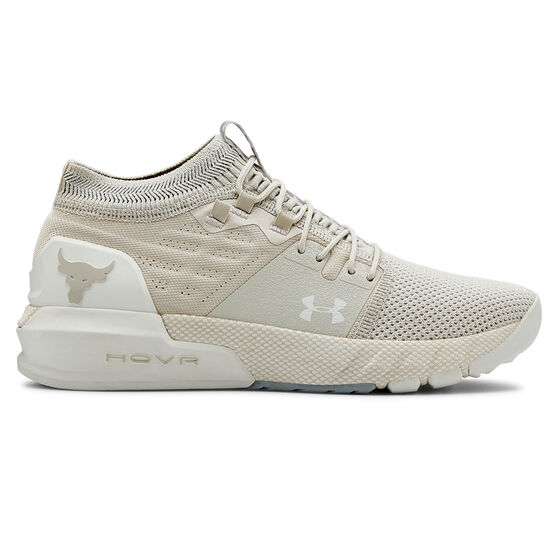 Under Armour Project Rock 2 Womens Training Shoes, White, rebel_hi-res