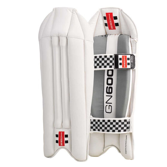 Gray Nicolls GN 600 Wicketkeeping Pads White Adult, White, rebel_hi-res