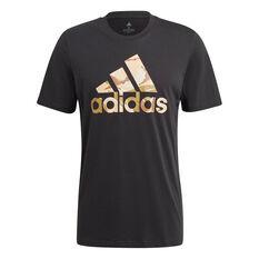 adidas Essentials Mens Camouflage Print Tee Black XS, Black, rebel_hi-res