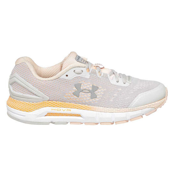 Under Armour HOVR Guardian Womens Running Shoes, Grey / Orange, rebel_hi-res