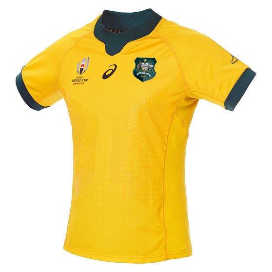 Wallabies 2019 Mens Rugby World Cup Home Jersey, Gold, rebel_hi-res