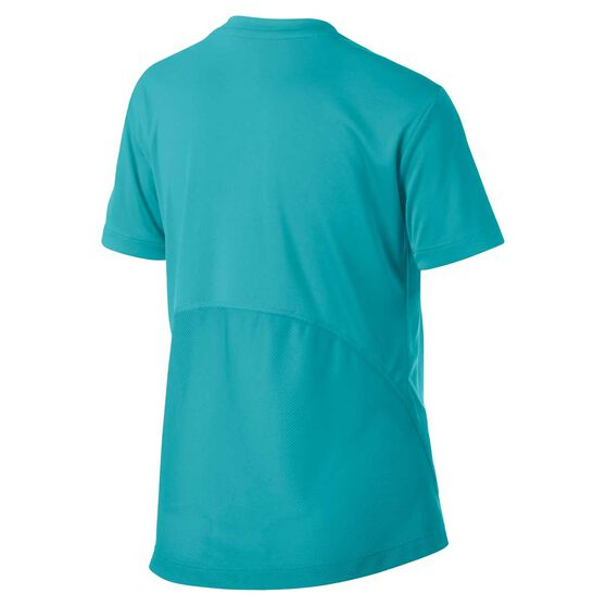 Nike Dri-FIT Girls Short Sleeve Graphic Tee, Green / Yellow, rebel_hi-res