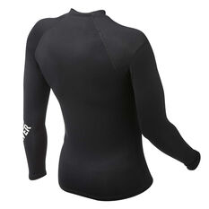 Quiksilver Boys All Time Long Sleeve Rash Vest Black 8, Black, rebel_hi-res