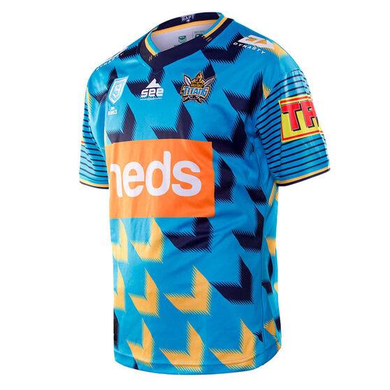 Gold Coast Titans 2020 Mens NRL Nines Jersey, Blue/Yellow, rebel_hi-res