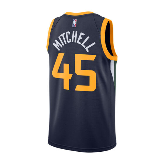 Nike Utah Jazz Donovan Mitchell 2019 Mens Icon Edition Swingman Jersey, Navy, rebel_hi-res