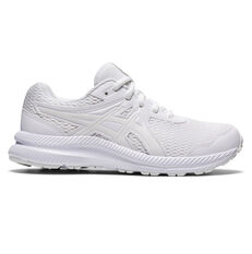 Asics Contend 7 Kids Running Shoes White US 1, White, rebel_hi-res