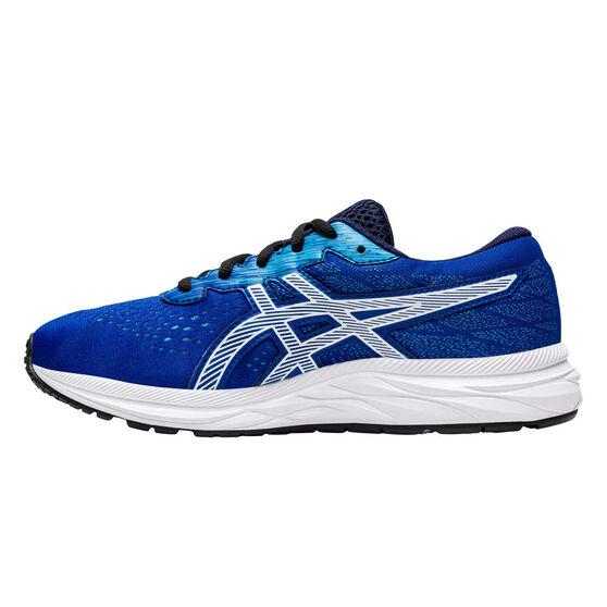 Asics GEL Excite 7 Kids Running Shoes, Blue/Green, rebel_hi-res