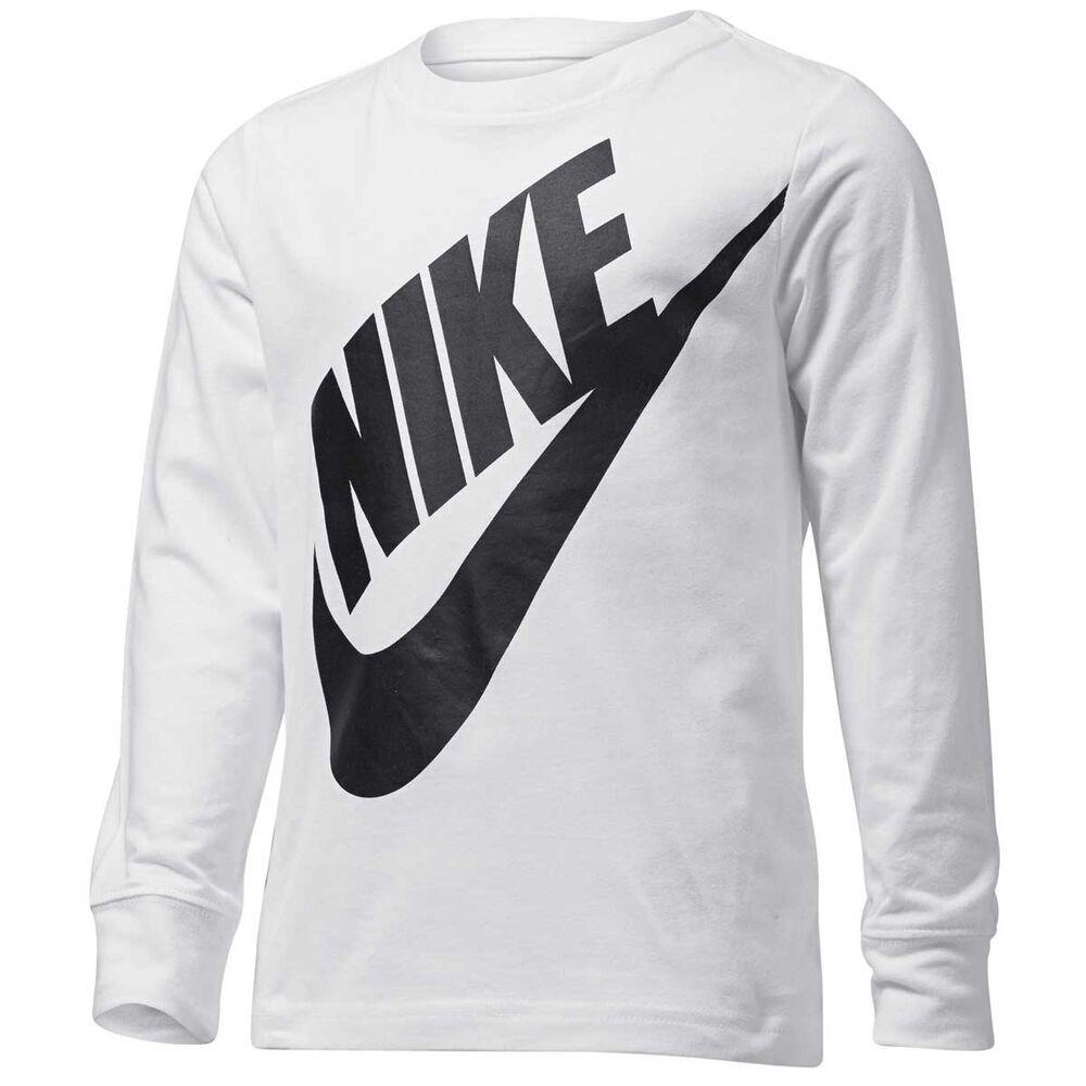 00af47d7 Nike Boys Jumbo Futura Long Sleeve Tee White 6 | Rebel Sport