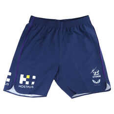 Melbourne Storm 2021 Mens Training Shorts Purple S, Purple, rebel_hi-res