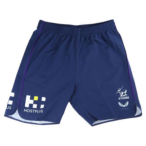 Melbourne Storm 2021 Mens Training Shorts, Purple, rebel_hi-res